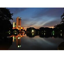 Between two worlds - Shah Alam Lake Photographic Print