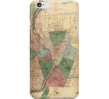 Map of the City of Rochester New York (1879) iPhone Case/Skin