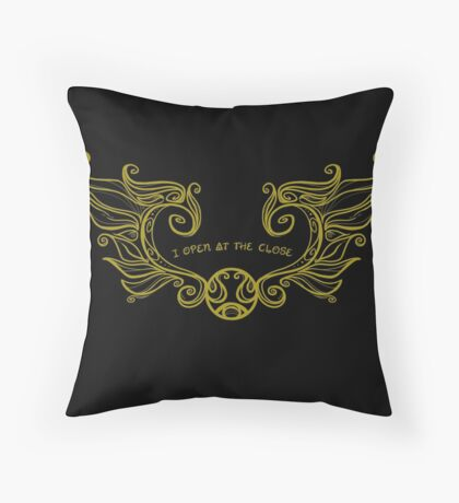 I Open at the Close - Gold Version Throw Pillow