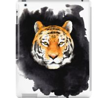 tiger head on black spot iPad Case/Skin