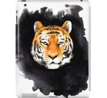 tiger head on black spot iPad Case/Skin