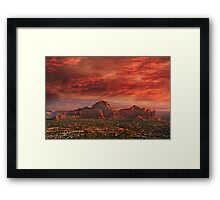 Good Night Sedona Framed Print