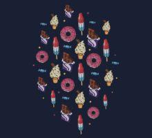 sweet tooth pattern Kids Tee