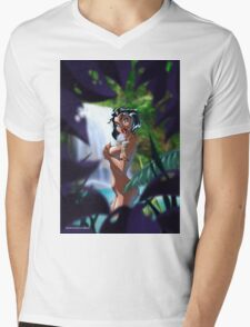 JUNGLE GIRL Mens V-Neck T-Shirt