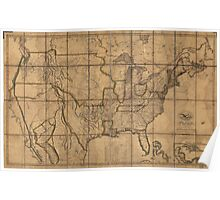 Map of the Unitd States of America (1819) Poster