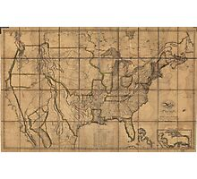 Map of the Unitd States of America (1819) Photographic Print