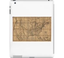 Map of the Unitd States of America (1819) iPad Case/Skin