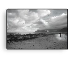 Walking on the beach - Kommetjie, near Cape Point Canvas Print