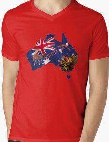Australiana Tshirt Mens V-Neck T-Shirt
