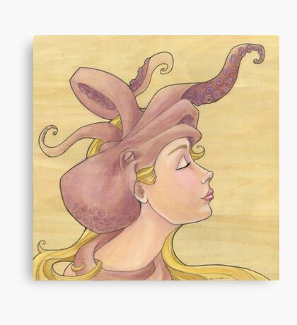The Octopus Mermaid 11 Canvas Print
