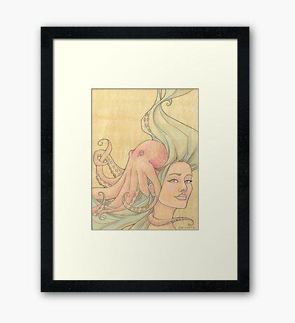 The Octopus Mermaid 7 Framed Print