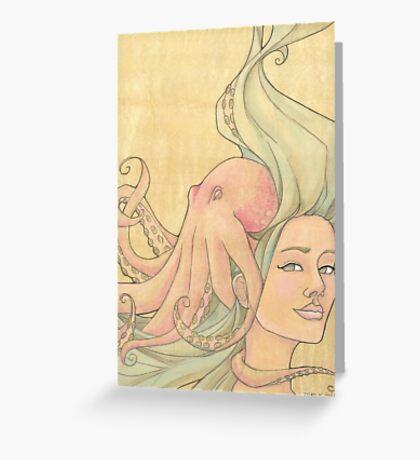 The Octopus Mermaid 7 Greeting Card