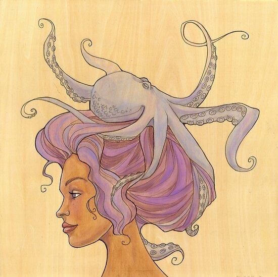 The Octopus Mermaid 4 by Karen  Hallion