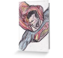 The Man of Steel Greeting Card