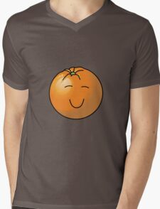 Orange in Black Mens V-Neck T-Shirt