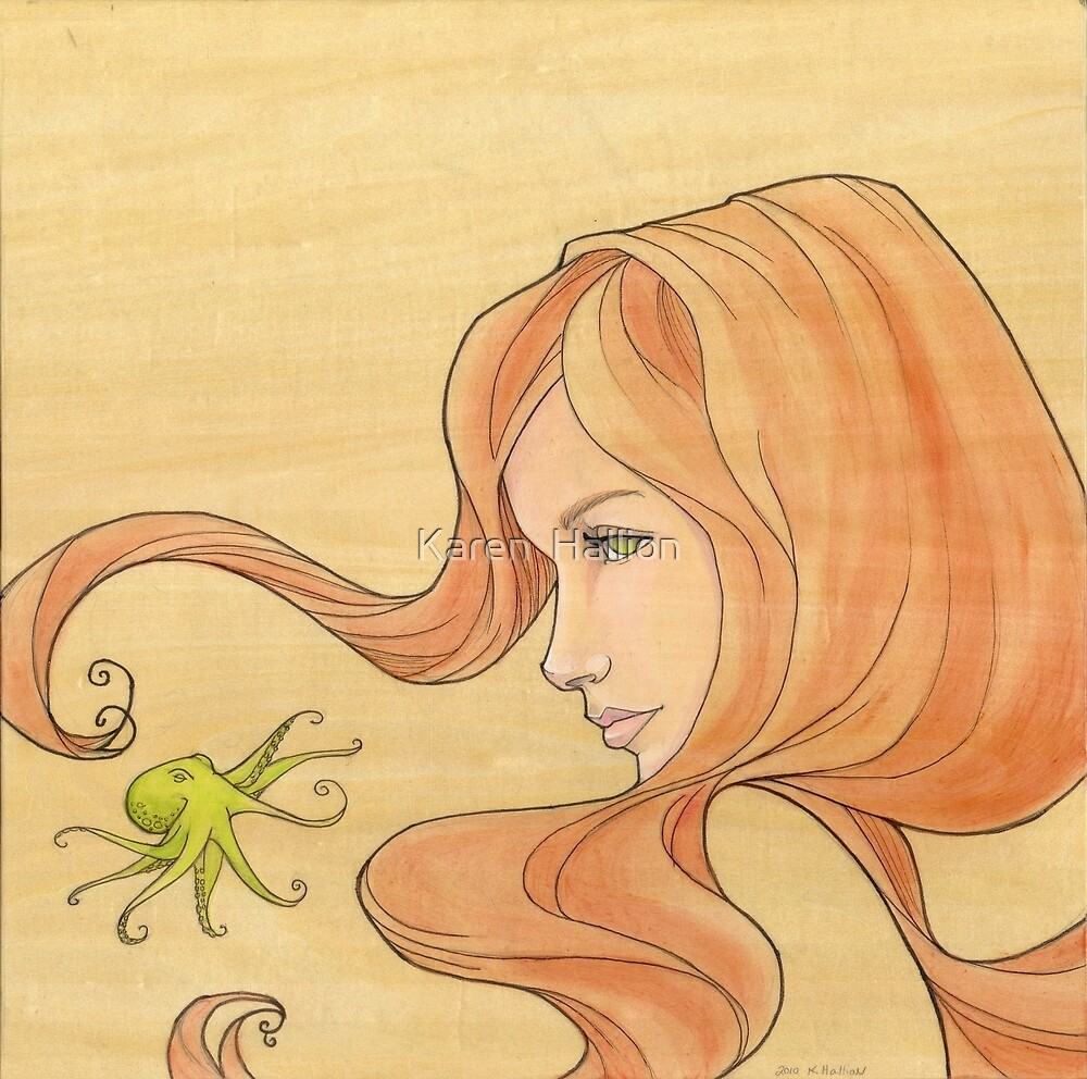 The Octopus Mermaid 1 by Karen  Hallion