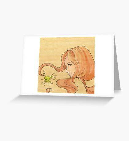 The Octopus Mermaid 1 Greeting Card