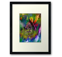 Tulip & Girl. Framed Print