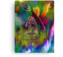 Tulip & Girl. Canvas Print