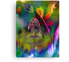 Tulip & Girl. Canvas Print