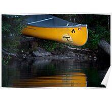 Yellow Canoe Poster