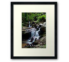 Flowing silk Framed Print
