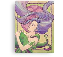 Tattooed Mermaid 9 Canvas Print