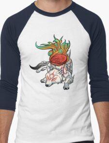 Okami - Amaterasu Rests Men's Baseball ¾ T-Shirt