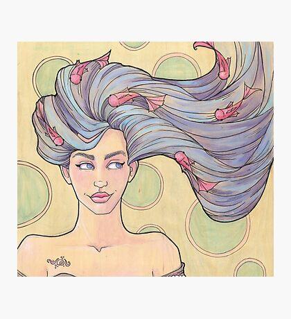Tattooed Mermaid 7 Photographic Print