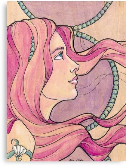Tattooed Mermaid 5 by Karen  Hallion