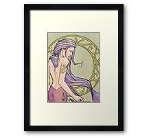 Tattooed Mermaid 3 Framed Print
