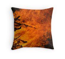 Raging Fire Throw Pillow