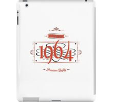 Since 1964 (Red&Black) iPad Case/Skin