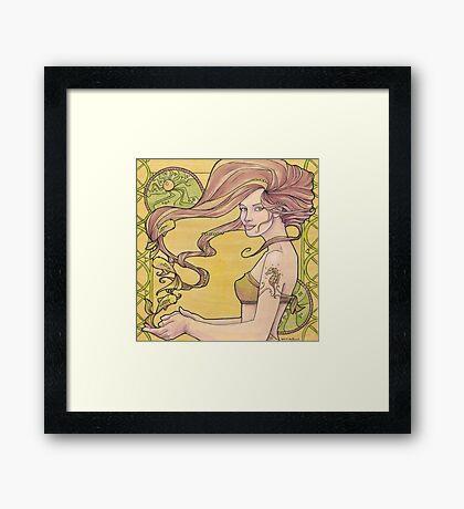 Tattooed Mermaid 2 Framed Print