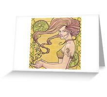 Tattooed Mermaid 2 Greeting Card