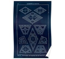 A Handbook Of Ornament With Three Hundred Plates Franz Sales Meyer 1896 0042 Geometrical Elements Rhombus Trapezium Subdivision Inverted Poster