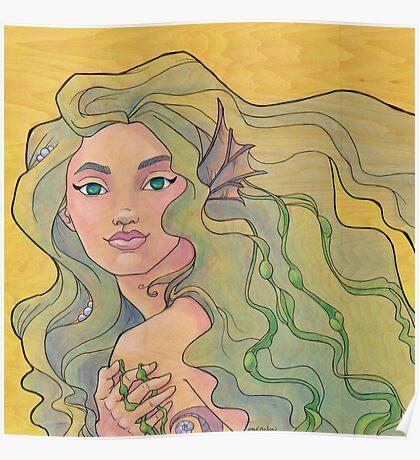 Tattooed Mermaid 12 Poster