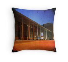 Convention Center Bus Stop Throw Pillow