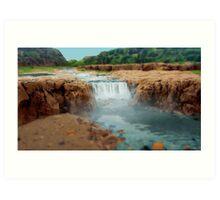 Rockpool Waterfall Art Print