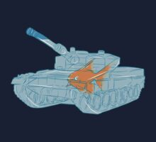 Goldfish in a tank by funnyshirts