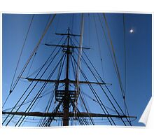 Moon & Masts Poster
