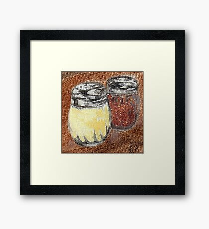 Cheese And Peppers Framed Print