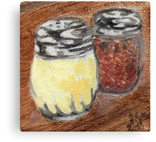 Cheese And Peppers Canvas Print