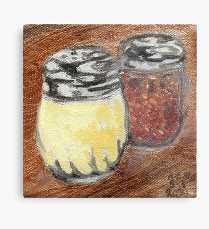 Cheese And Peppers Metal Print