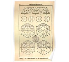 A Handbook Of Ornament With Three Hundred Plates Franz Sales Meyer 1896 0036 Geometrical Elements Triangle Hexagon Subdivision Poster