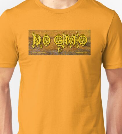 No GMO Crop Circle on a Van Gogh Unisex T-Shirt