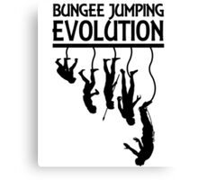 BUNGEE JUMPING EVOLUTION Canvas Print