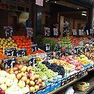 Fruits & Vegetables for sale at the Naschmarkt by Lee d'Entremont