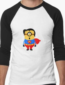 Mini Superman Men's Baseball ¾ T-Shirt