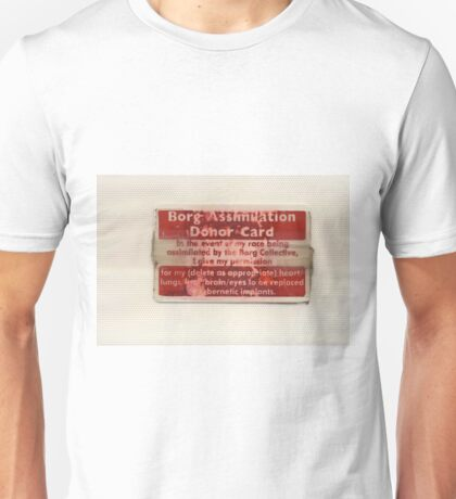 Borg Assimilation Donor Card Unisex T-Shirt
